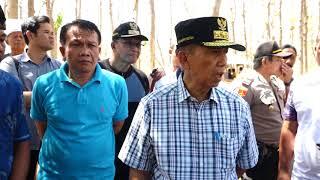 Sidak Gubernur di Lokasi Pengungsian di Hutan Jati di Buleleng