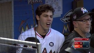 STL@MIA: Yelich, Mattingly ejected from the game