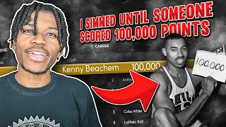 I Simulated Until Someone Scored 100,000 POINTS in NBA 2K21