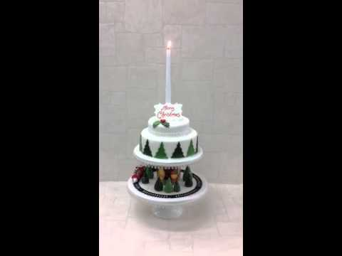 Christmas Train Cake