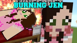 Minecraft: GAMINGWITHJEN IS BURNING! (TRAPPED INSIDE JEN!) Mini-Game