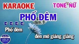 Karaoke Phố Đêm | Nhạc Sống Tone Nữ Roland EA7 | Karaoke Tuấn Cò