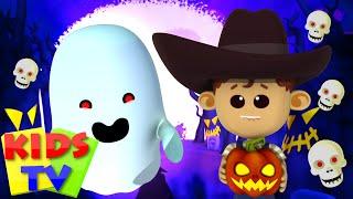 It's Halloween Night | Little Eddie Cartoon | Nursery Rhymes |  Preschool Songs for Babies