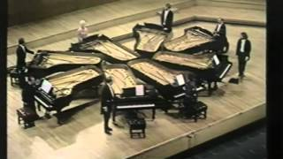 Beethoven - Turkish March (arr. for 8 pianos; Larrocha, Bolet, etc.)