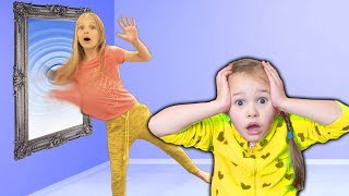 Amelia and Avelina Compilation Tuesday with a magic mirror to indoor playground adventure