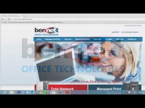 Bennett Office Technologies Customer Portal: How to Create an Account