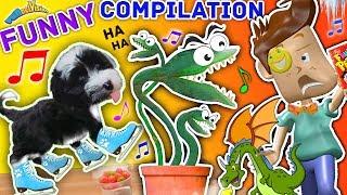 FUNnel V Fam Musical Funny Compilation of PUPPY SKATING! Venus Fly Trap + Frozen Cereal Vlog