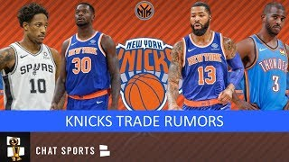 Knicks Trade Rumors On Chris Paul & DeMar DeRozan + Trading Julius Randle & Marcus Morris