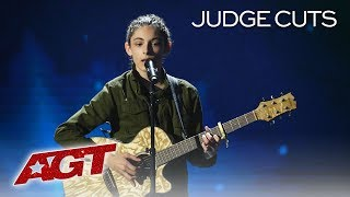 WOW! 14-Year-Old Singer Benicio Bryant Takes Risk With Original Song - America's Got Talent 2019