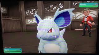 Pokémon Let's Go Pikachu: (trying for 100) part 28: welcome clain of ninja. Gym leader koga master N