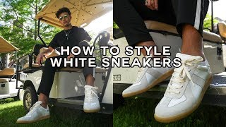 How to Style White Sneakers | Mens Fashion 2019 | Oliver Cabell