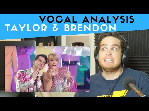 Vocal Analysis of Taylor Swift and Brendon Urie Performing ME! LIVE!