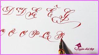 Cách Viết Chữ Đẹp | Mẫu Chữ Hoa Sáng Tạo | Luyện chữ đẹp Cần Giuộc