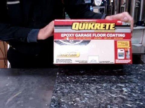 Quikrete Epoxy Garage Floor Coating Video