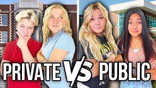PUBLIC SCHOOL VS. PRIVATE SCHOOL || DAY in THE LIFE