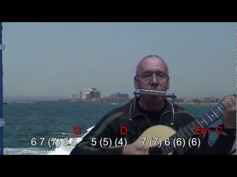 Nº 007 (Rayando el Sol) armonica G tablatura + chords guitar Mundharmonika