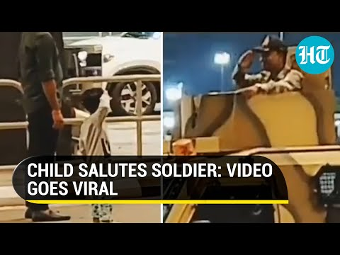Video of child saluting soldier at Bengaluru airport goes viral