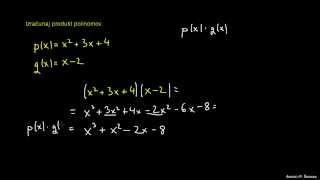 Polinomi – naloga 1