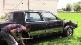 Breaking Car Windows With A Mini Slugger Bat