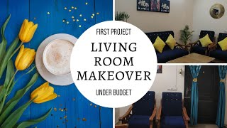 Project 1| Small Budget Living Room Makeover | Budget Decor | Indian Living Room