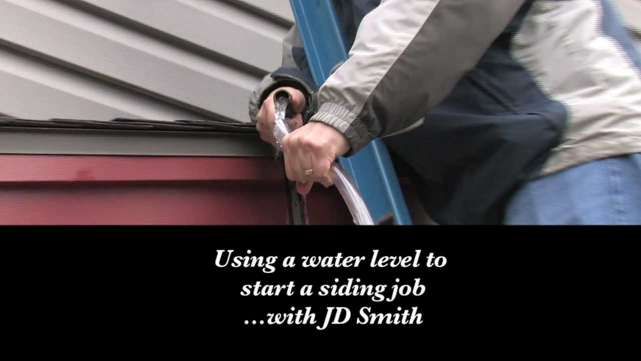 Jd Smith How To Use A Water Level To Start A Vinyl