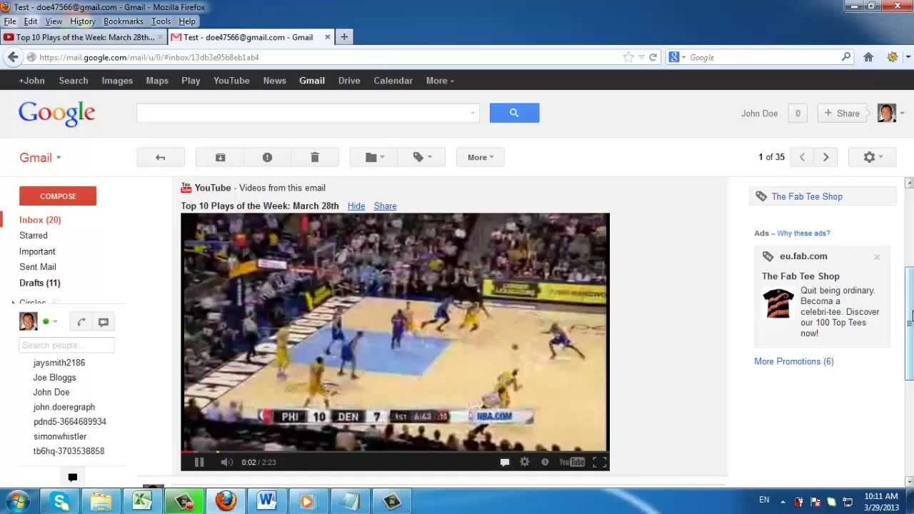 How to Embed YouTube Video in Email - YouTube