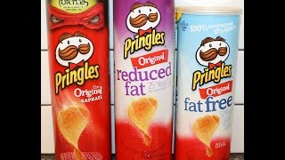 Pringles: Original, Reduced Fat & Fat Free Blind Taste Test