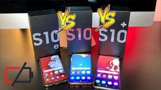 Samsung Galaxy Ultimate Battery Drain Test / Galaxy S10e vs Galaxy S10 vs Galaxy S10 Plus