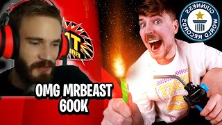 Pewdiepie reacts to Mrbeast I Bought The World's Largest Firework ($600,000)