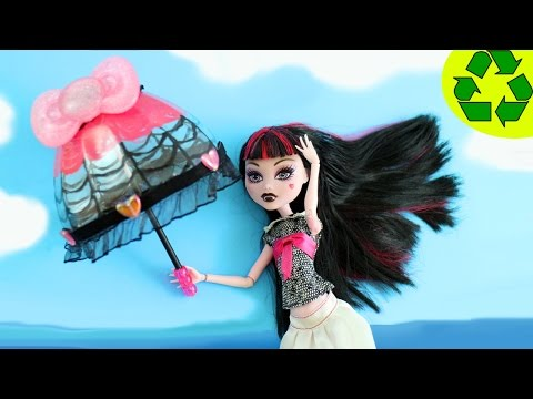 Craft: How to Make Doll Parasol or open umbrella