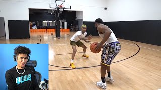 STOP THE CAP! CASH IS A HOOPER HOOPER! Cash vs Flight 1v1 Basketball Reaction!