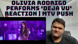 Olivia Rodrigo Performs 'deja vu' Reaction | MTV Push | 'deja vu' First Time Reaction