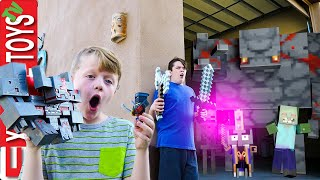 Minecraft Dungeons Epic Battle! Ethan and Cole Take on the Mobs!