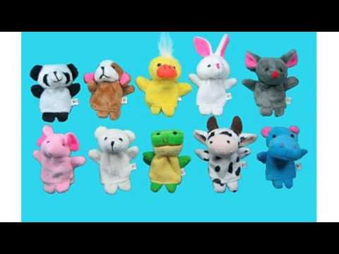 Baixar 10 Pc Soft Plush Animal Finger Puppet
