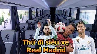 Đỗ Kim Phúc thử trải nghiệm đi siêu xe của Ronaldo và Ramos tại Real Madrid - Thử Thách Bóng Đá