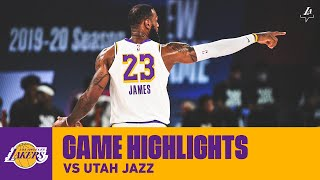 HIGHLIGHTS | LeBron James (22 pts, 9 ast, 8 reb) vs Utah Jazz