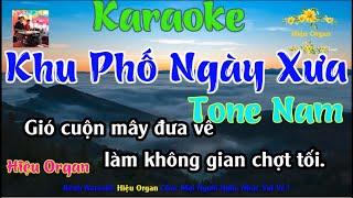 Karaoke 7979 Khu Phố Ngày Xưa  Nhạc Sống Tone Nam || Hieu Organ Guitar 7979