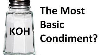 Using Potassium Hydroxide as a Condiment