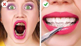 BEAUTY HACKS TO BECOME POPULAR AT SCHOOL!    Funny Girly DIYs by 123 Go! LIVE