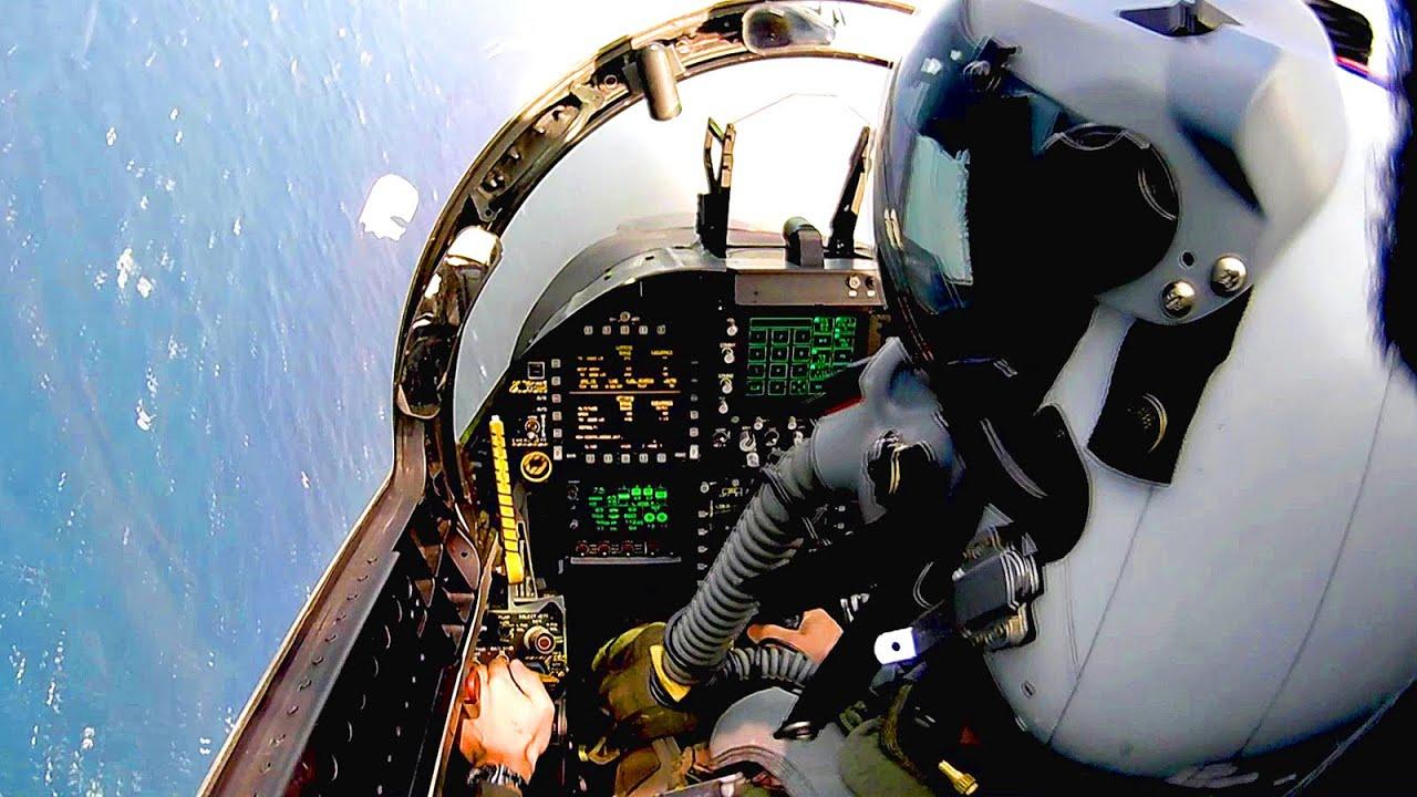 Cockpit View: F/A-18 Super Hornet - Air Refueling ...