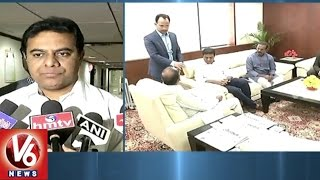 TRS Ministers Meet Union Minister Anant Geete, Urge To Rei..