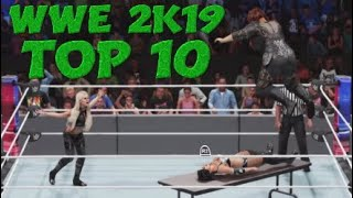 Top 10 Extreme Moments Episode #15 | WWE 2K19 Montage