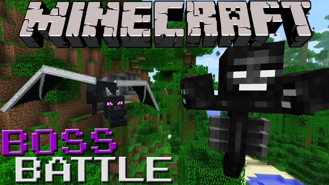 Wither Vs Ender Dragon Minecraft Boss Battle Youtube
