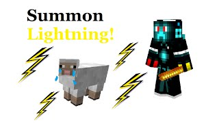 COMMAND - How to summon lightning with a stick in Minecraft! [1.8]