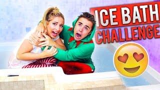 EXTREME ICE BATH CHALLENGE!! 😍 (COUPLES EDITION!)