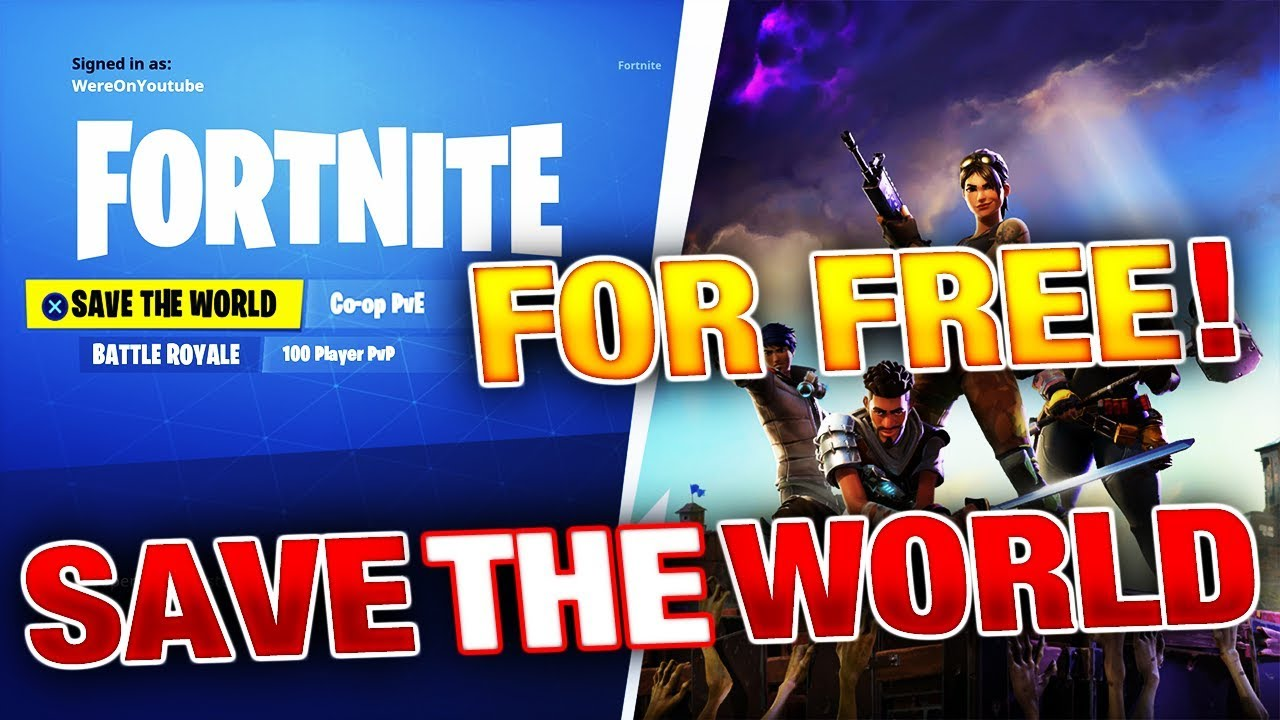 How To Get Fortnite SAVE THE WORLD For FREE! (Release Date