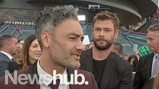Taika Waititi interview at Sydney premiere of Thor: Ragnarok | Newshub