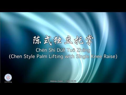 Chén Shì Dúlì Tuō Zhǎng TJQC DLTZ (Chen Style Palm Lifting with Single Knee Raise)