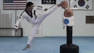 Taekwondo Jump Spin Hook Kick Tutorial | Taekwonwoo How to
