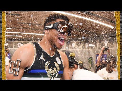 Milwaukee Bucks Locker Room Celebration | 2021 NBA Champions